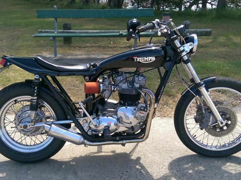 Oleck Custom Motorbike Archive | triumph flat tracker